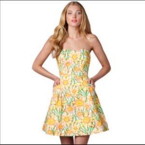 Lilly Pulitzer wyatt daffies print dress size 2